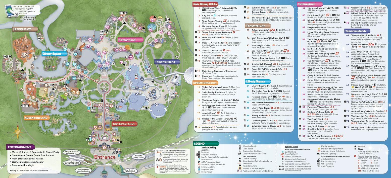 Magic Kingdom Map #passporter