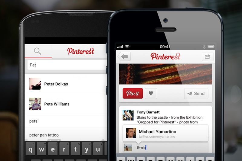 Pinterest for iOS updated with push notifications