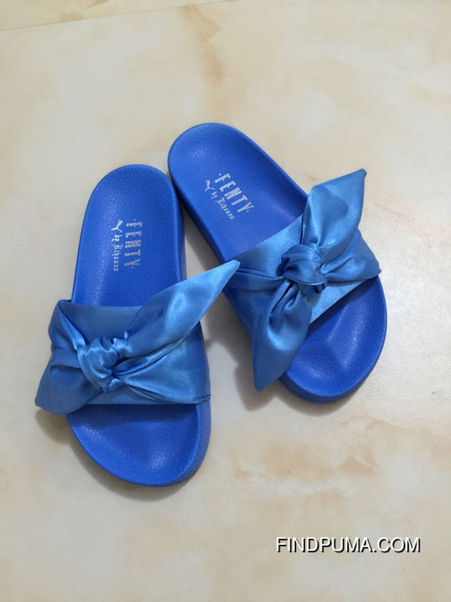 finest selection cba88 1e4dd Puma X Fenty Bow Slides ButterFly Blue Women Sandals New ...