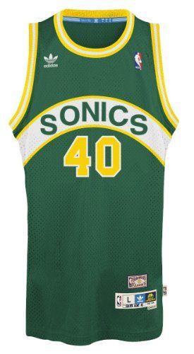 3f03b313f6e Shawn Kemp Seattle Supersonics Adidas NBA Throwback Swingman Jersey -  Green  This retro throwback swingman