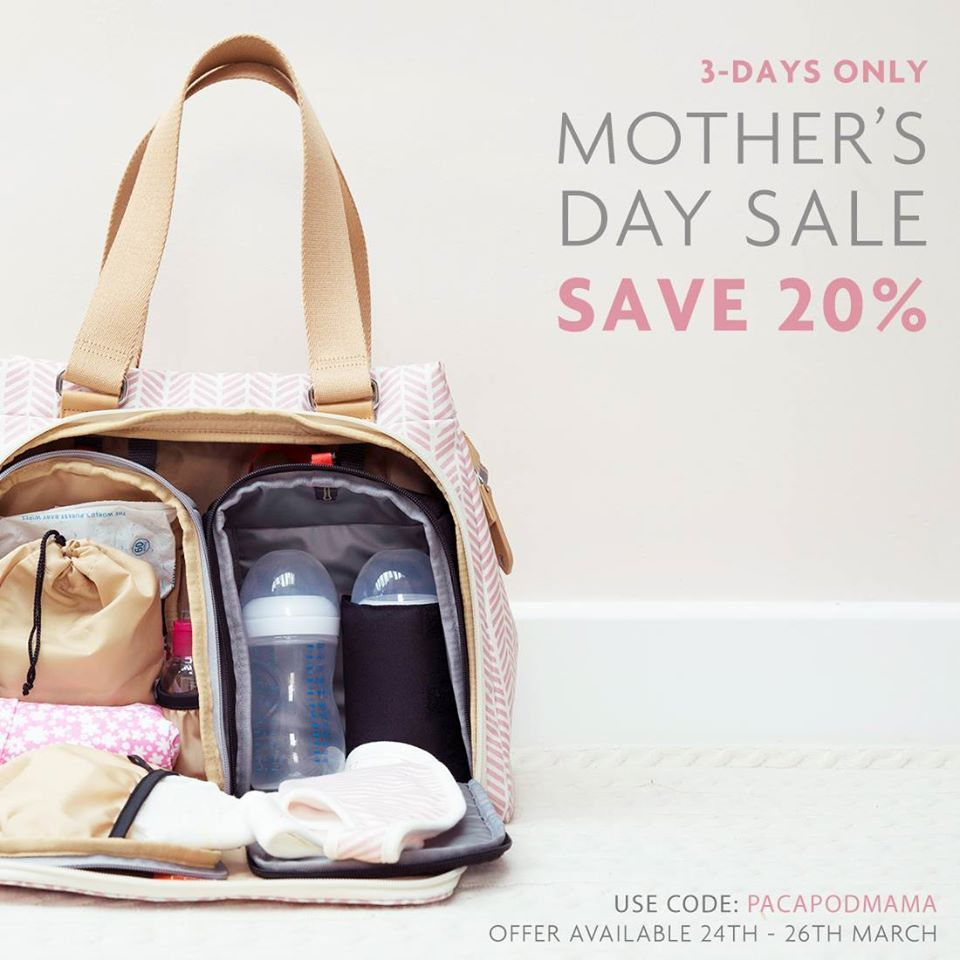 9b1dcca4d4c7c Save 20% off PacaPod changing bags for UK Mother's Day. This offer is valid  through 3/26/17.