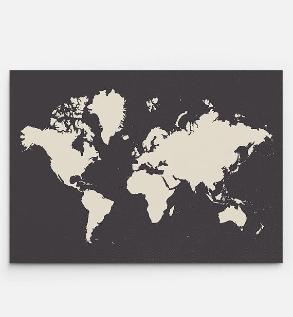 World Map Print - PRINTABLE FILE. Large World Map Poster. Travel ...