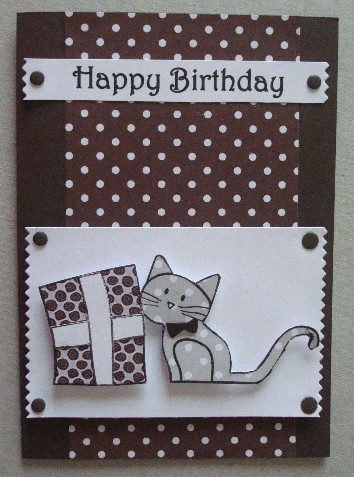 b081 hand made birthday card using simonsaysstamp happy meowday