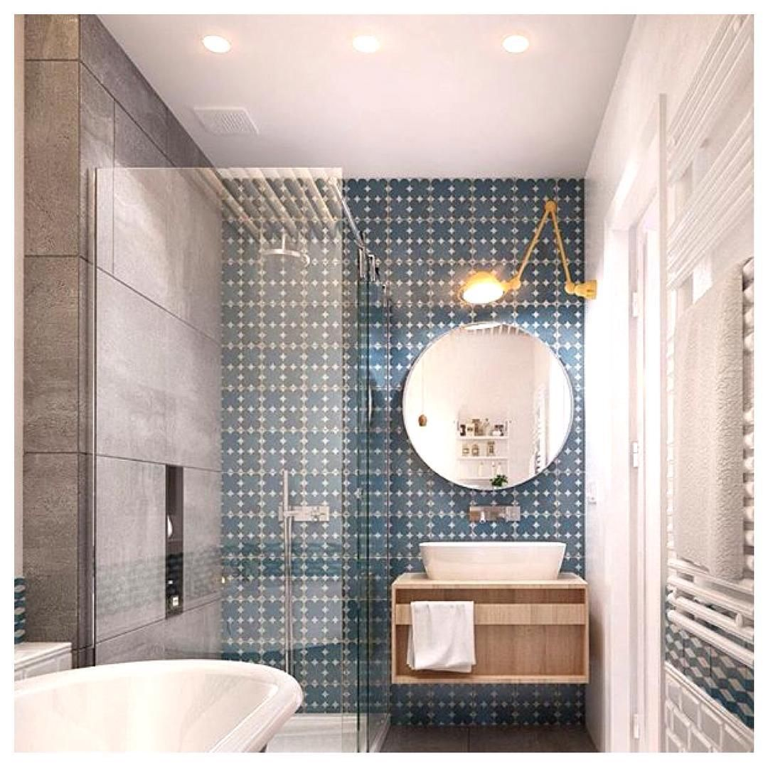 Badezimmer design gold bold tile design by int architecture photo by asafoton via