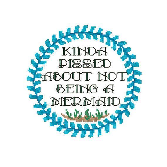 Mermaid Embroidery Pattern