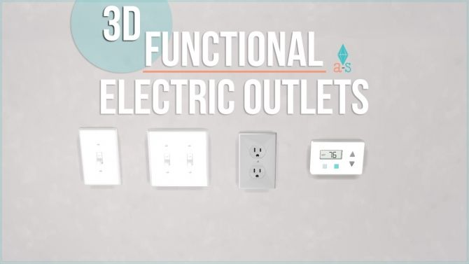Sims 4 Updates: Single Switch (Functional) Turn Lights On | Turn ...