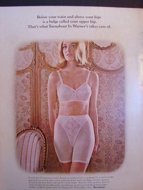 998fd16361b Warner s takes care of your  upper hip bulge  with this girdle in 60s   vintage  lingerie  ad