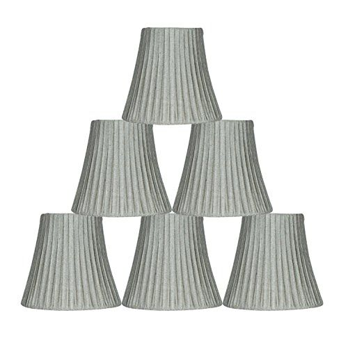 Urbanest box pleated mini chandelier lamp shade silver 3x5x45 urbanest box pleated mini chandelier lamp shade silver 3x5x45 softback clip on set of 6 aloadofball Image collections