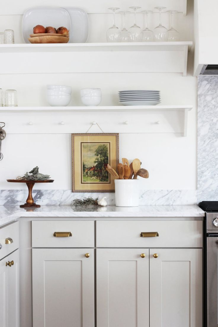 8 Great Neutral Cabinet Colors for kitchens - Kitchen inspirations, Home kitchens, Kitchen design, Kitchen remodel, New kitchen, Kitchen renovation - Ever since I started dreaming about the Farmhouse kitchen renovation (as in the the day we moved in 😉), I've imagined a neutral cabinet color  Something light but offwhite and with a hint of color to it  But finding that perfect neutral color for a kitchen can be so hard