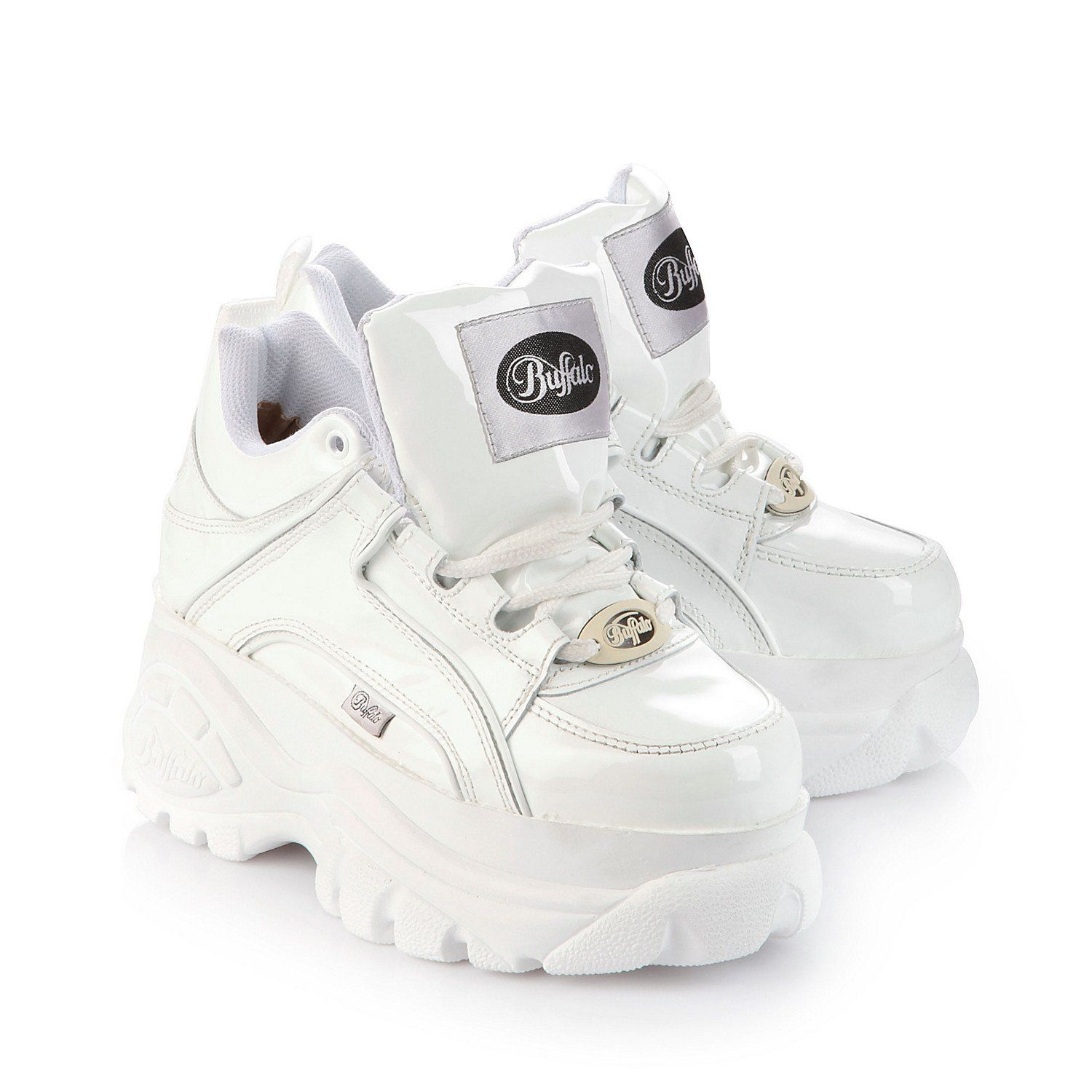 2d640401c1b New Buffalo Classic Boots 1339-14 WHITE Platform Shoes Trainers Sizes UK  3-8  Amazon.co.uk  Shoes   Bags