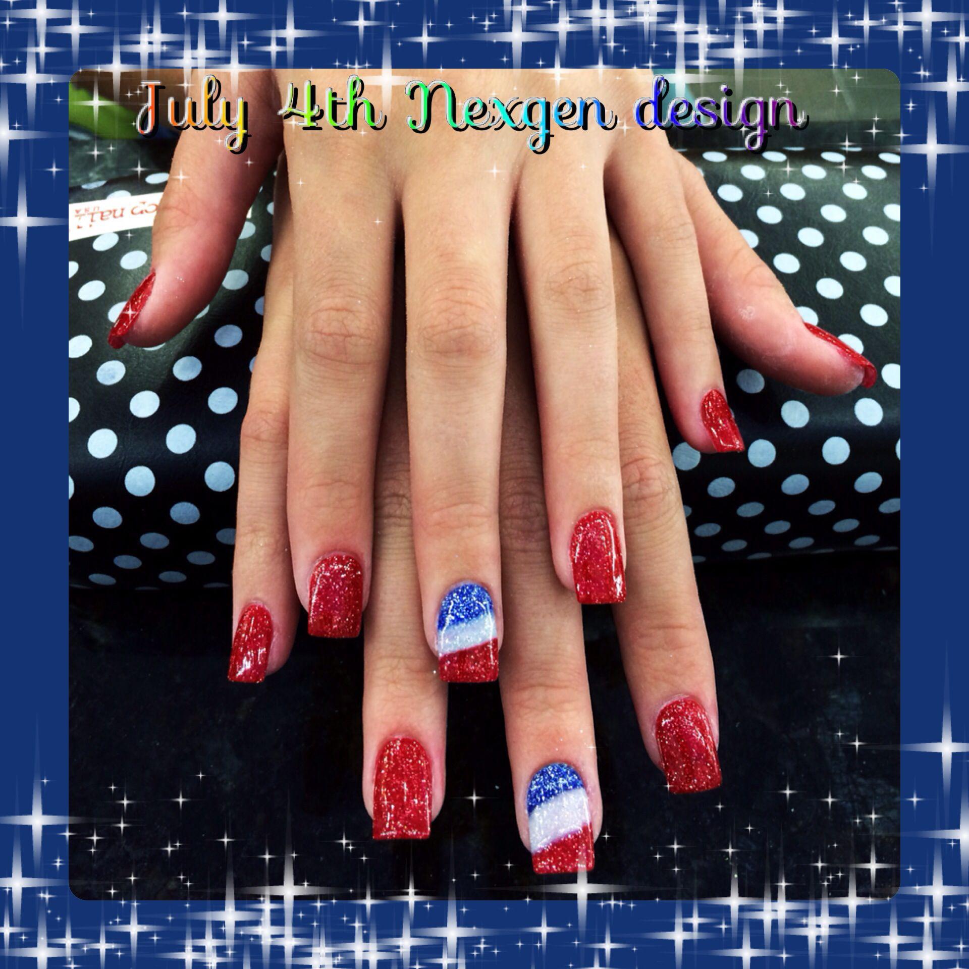 Nexgen Nail art July 4th   Cute Nail Art   Pinterest   Nail swag and ...