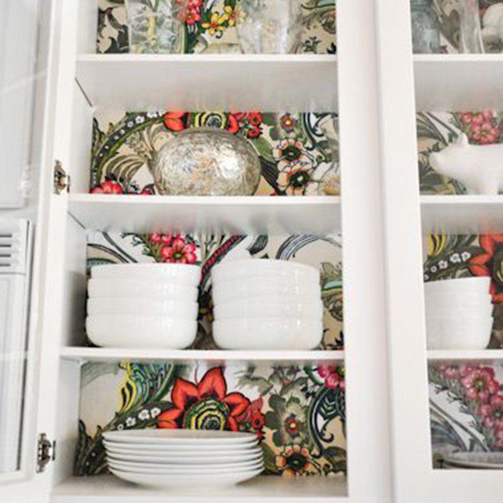 Cuisine Où Poser Son Papier Peint Pour Un Maximum Deffet - Hauteur meuble de cuisine pour idees de deco de cuisine