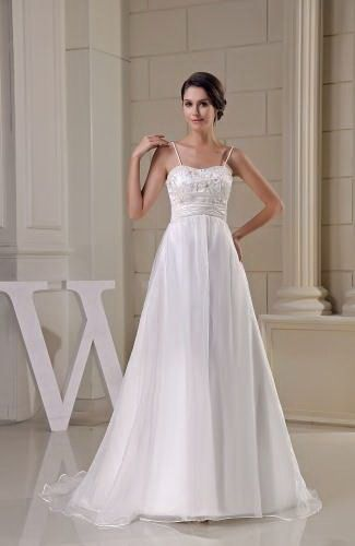 Elegant A-Line Wedding Gown - Order Link: http://www.thebridalgowns.com/elegant-a-line-wedding-gown-tbg2531 - SILHOUETTE: A-Line; SLEEVE: Sleeveless; LENGTH: Court Train; FABRIC: Organza; EMBELLISHMENTS: Sequin , Ruching , Embroidery , Paillette - Price: 208.99USD