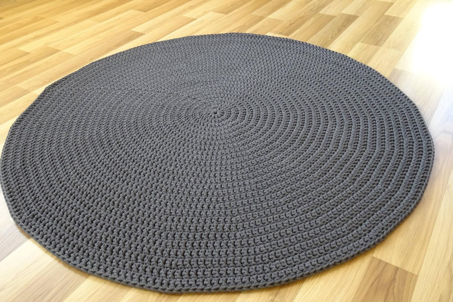 Scandinavian Rug Grey Modern Rug Nursery Rug Gray Round Crochet Rug Tapis Vloerkleed Alfombra Teppich Area Rug Soft Round Rug Scandinavian Rug Modern Rugs Grey Grey Rugs