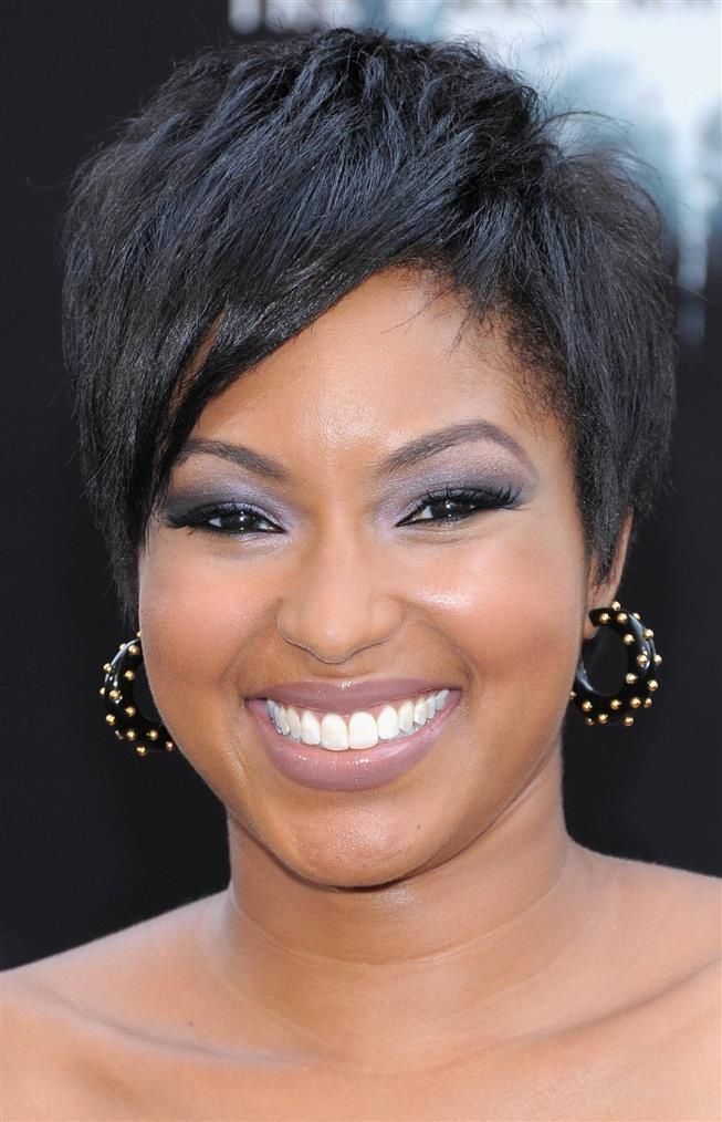 Short Hairstyles For Black Women With Round Faces Short Haircut