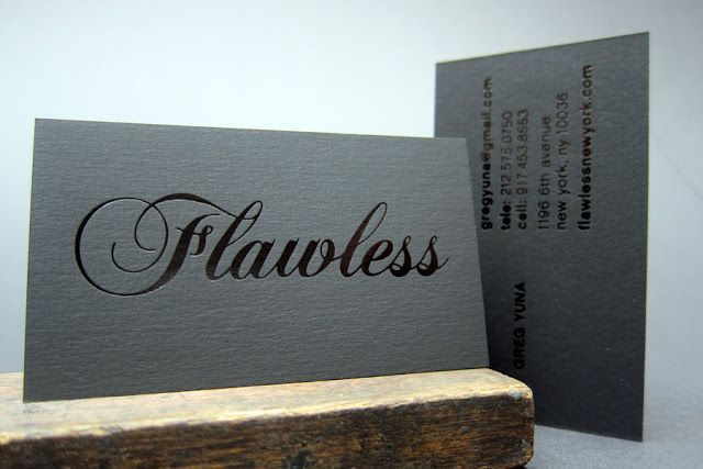 Foil stamp letterpress business card best printer nyc rock your foil stamp letterpress business card best printer nyc reheart Gallery