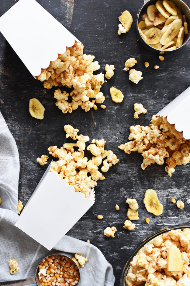 Healthy Peanut Butter Banana Popcorn Recipe Popcorn