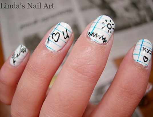 10 fun back to school nail designs - 10 Cute Back To School Nail Designs School Nails, School And