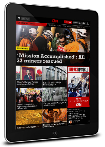 CNN app for the iPad to the bigger picture