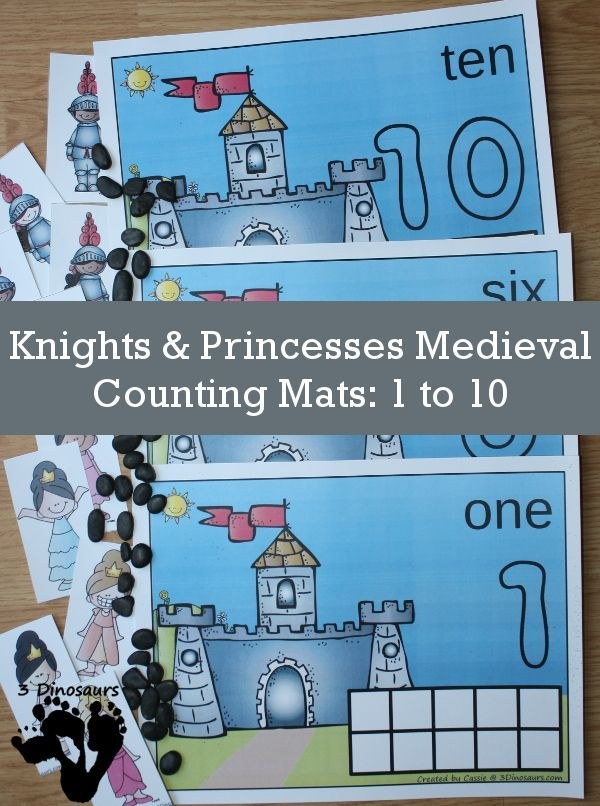 Hands-On Knights & Princesses Medieval Counting Mats: 1 to 10 ...