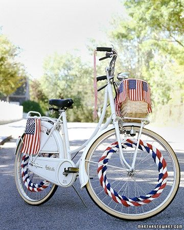 Creative Ways To Display The American Flag Bicycle Decor 4th Of