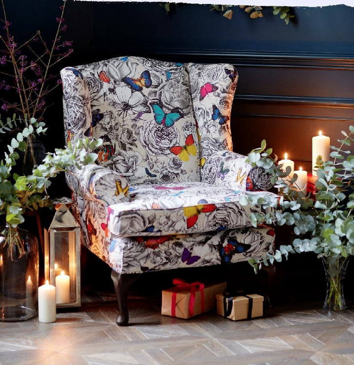 Captivating Murrayfield Chair In Osborne U0026 Little Butterfly Gardens Fabric, H107 X W83  X D89cm,