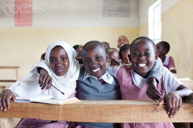 Schoolchildren (8-9) in Primary School, Maasai area, Kenya