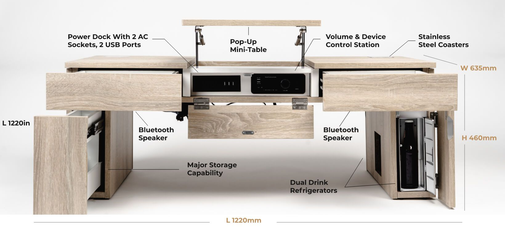 Be The First To Know About Awesome Finds On Kickstarter Indiegogo Tom S Interesting Finds Cool Coffee Tables Coffee Table Coffee Table With Fridge [ 748 x 1640 Pixel ]