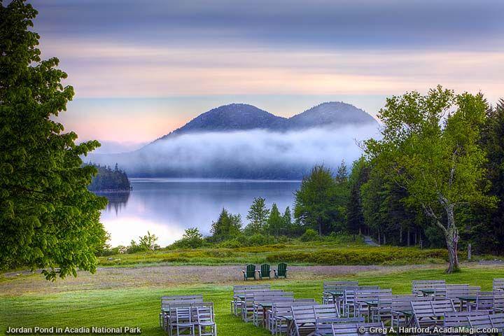Jordan Pond view from Jordan Pond Restaurant in Acadia National Park