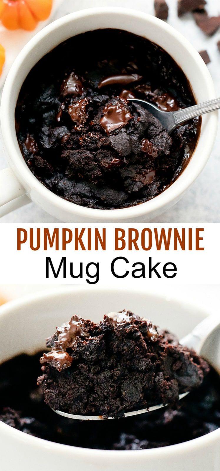 Pumpkin Brownie Mug Cake | Recipe | Pumpkin brownies, Mug ...