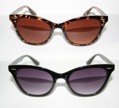 Cat Eye Sonnenbrille Übergroß 50er Jahre XXXL Trend schwarz braun rot Damen #716