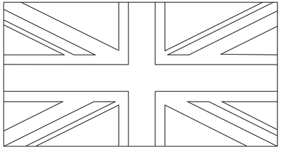 Union Jack Template For Bunting