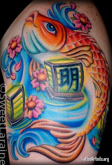 pezkoi con simbolo de om  D  Pinterest  Koi Tattoo and Tatoo