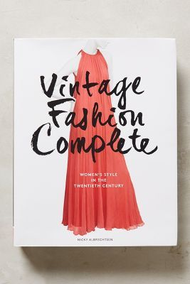 Anthropologie House Home Fashion Books Vintage Fashion Book Gifts
