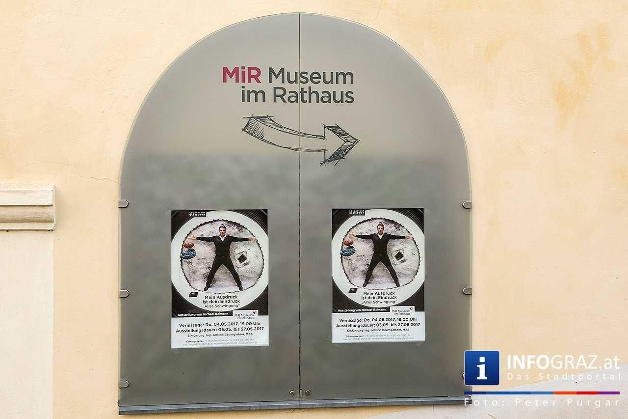Austria, Graz Museum, Rathaus und Gleise