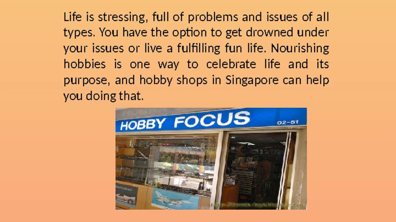 Hobby shops in Singapore are the obvious goto destination