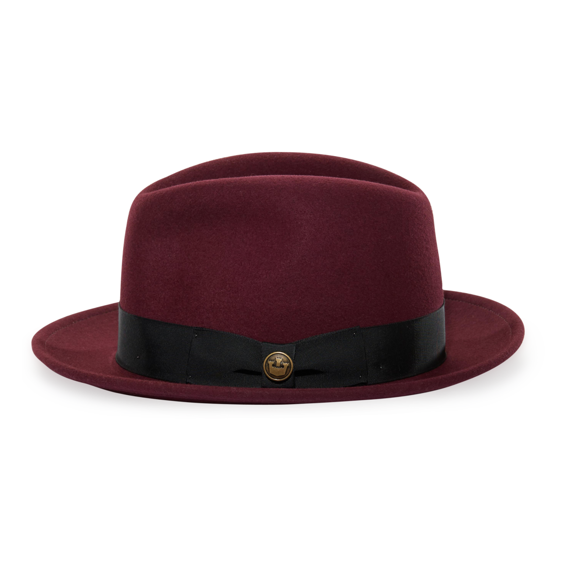 Dean The Butcher Whiskeyfelt Wide Brim Fedora hat front view 8203c42884aa