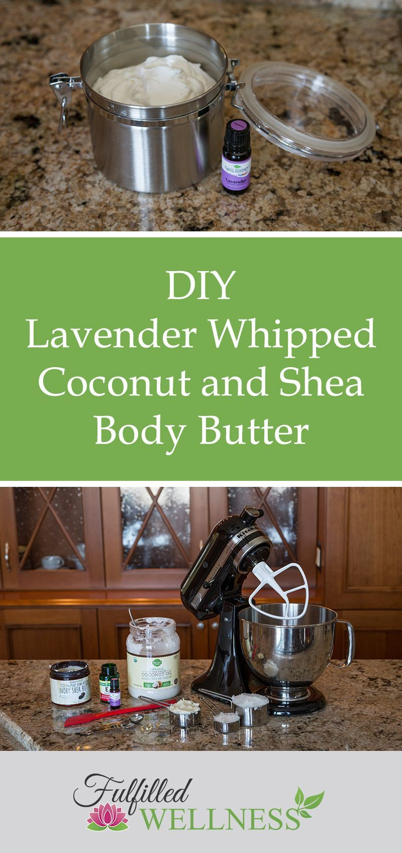 Diy lavender whipped coconut and shea body butter recipe