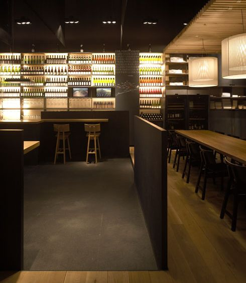 Modern Wine Bar And Restaurant Design With Separated Area