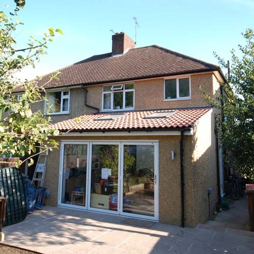 single storey rear extension to semi detached house