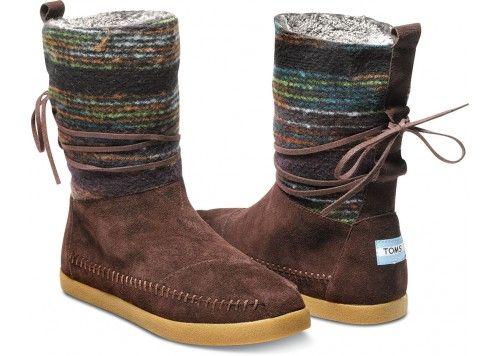 Love!! {Brown Wool Stripe Women's Nepal Boots