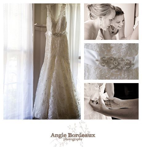 Beautiful lace wedding dress with sash. Details of a Maine wedding ...