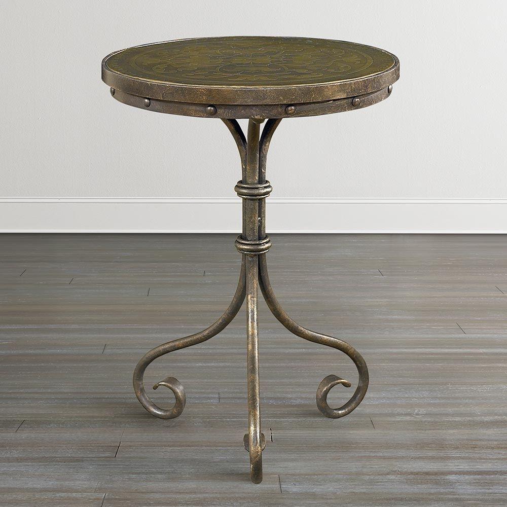 Gentil Brass Side Tables Vintage