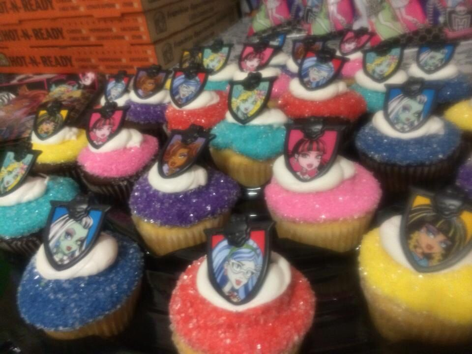 Swell Monster High Cupcakes Created At Walmart With Images Monster Personalised Birthday Cards Veneteletsinfo