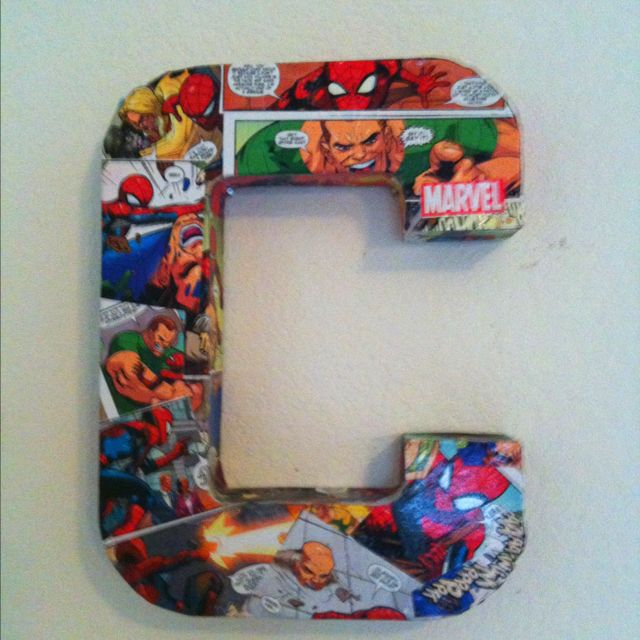 A Spiderman Comic Book And A Little Decoupage ... Thanks