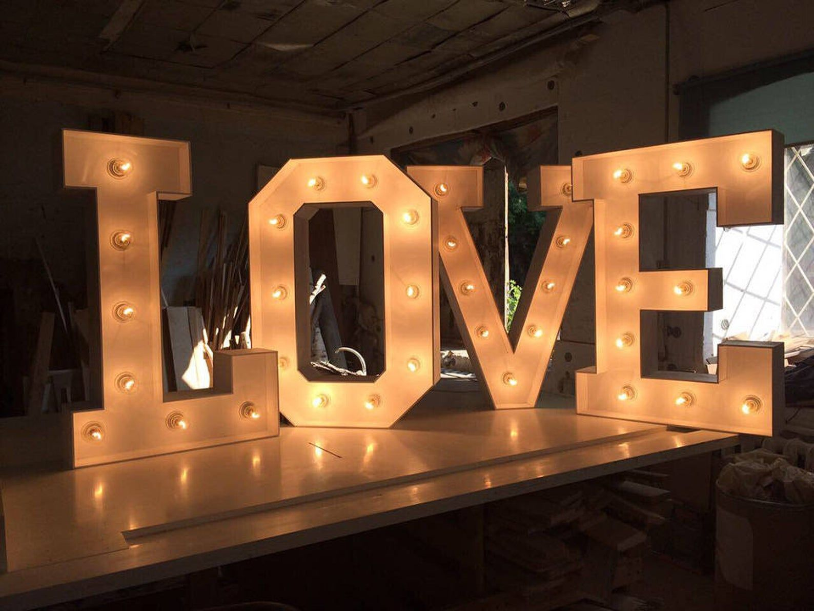 40 Inches Large Marquee Letter Light Up Letters Large Marquee Numbers Wedding Sign Light Up Sign Marquee Letter Lights Wooden Letter Light Letters Lighted Marquee Letters Light Up Letters