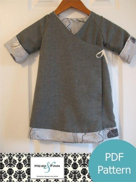 Sweet Wrap Reversible Dress pattern and tutorial 12m-6T kimono style ...