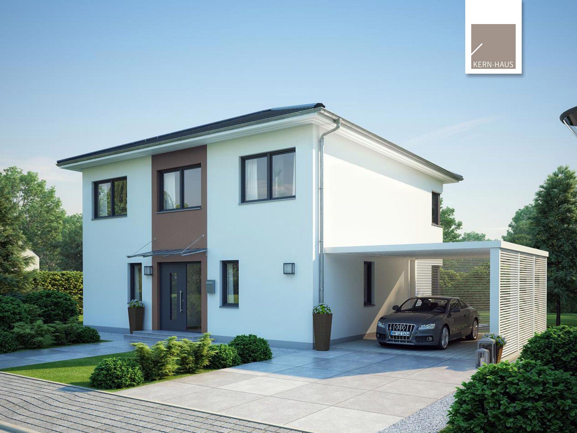 stadtvilla centro effizienzhaus von kern haus lichtdurchflutetes massivhaus mit moderner. Black Bedroom Furniture Sets. Home Design Ideas