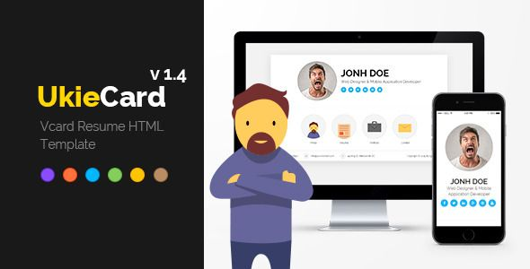 Ukiecard  Personal Vcard  Resume Html Template  Template And