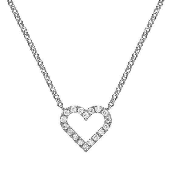 eb53dedf6dd5 Mini Diamond Hear Pendant in 14k Gold, Diamond Heart Necklace Micro Pave  Setting, Tiny Diamond Heart
